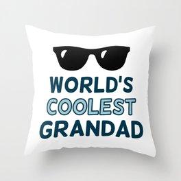 World's Coolest Grandad Throw Pillow