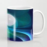 moon phase Mugs featuring Dream Phase by Youlia91