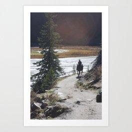 Lonely walk Art Print
