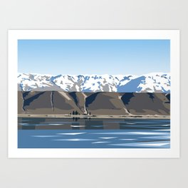 Lake Dunstan, Central Otago, New Zealand Art Print