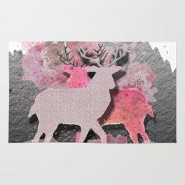 Pink deer Rug