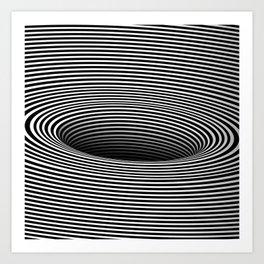 Black Hole Vertigo Art Print