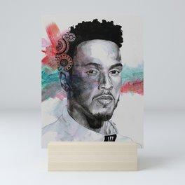 King Hammer: Tribute to Lewis Hamilton Mini Art Print