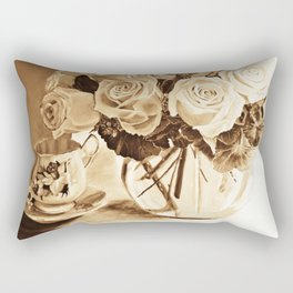 Original Painting Still Life by Dawn Rectangular Pillow