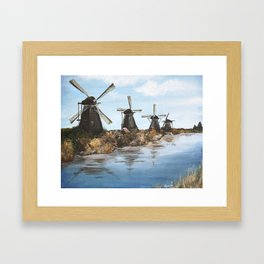 Windmills Framed Art Print
