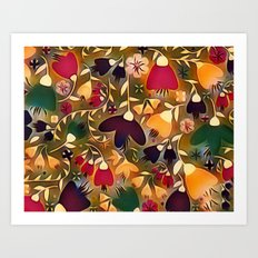 Floral Mixup Art Print