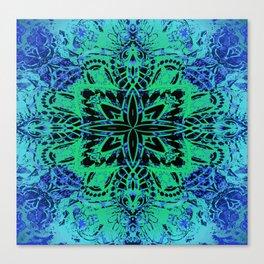 Dark Ancient Star Compass Mandala Canvas Print