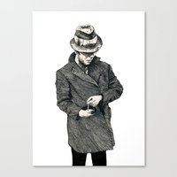 tom waits Canvas Prints featuring tom waits by Eric Tiedt