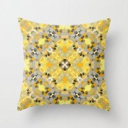 Orange and Yellow Kaleidoscope 3 Throw Pillow