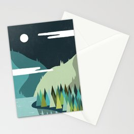 Beside The Mountains Stationery Cards