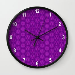 Ultraviolet Biscuits Pattern Wall Clock