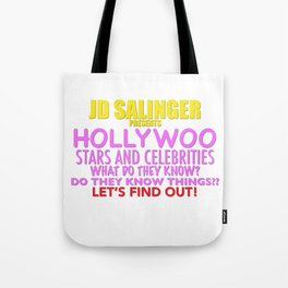 Hollywoo Stars and Celebrities Tote Bag