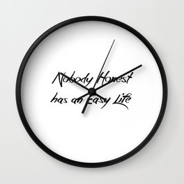 Nobody Honest Wall Clock