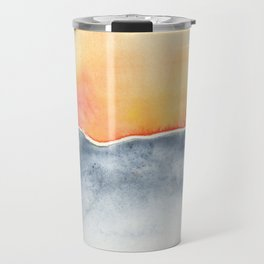 Orange grey Horizon Travel Mug