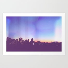 San Francisco Skyline from Bay Bridge Art Print
