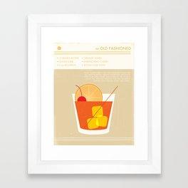 Old Fashioned Cocktail Art Print Framed Art Print