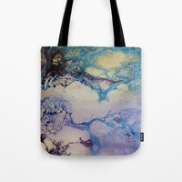 exo Tote Bags featuring Exo - Birth Series II by Melina Green