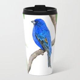 Royal Blue-Indigo Bunting in the Dogwoods by Teresa Thompson Travel Mug