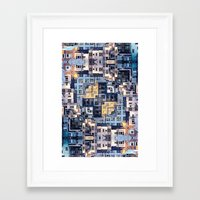 community Framed Art Prints featuring Community of Cubicles by Phil Perkins