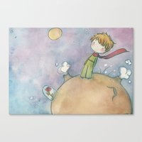 le petit prince Canvas Prints featuring Le Petit Prince by malipi