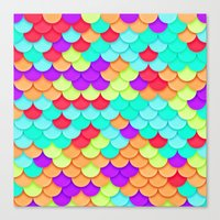 scales Canvas Prints featuring Scales by White Wolf Wizard