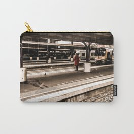 Person At Train Station Carry-All Pouch