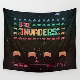 Invader Space Wall Tapestry