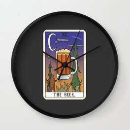 Beer Reading Wall Clock