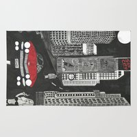 sin city Area & Throw Rugs featuring sin city by Carmit Levy