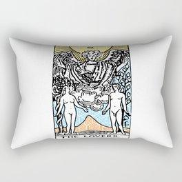 Geometric Tarot Print - The Lovers Rectangular Pillow