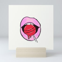 Candy bite Mini Art Print