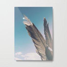 Brown Feathers Metal Print