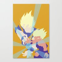 dragonball z Canvas Prints featuring Dragonball Z - Father-Son KameHameHa by TracingHorses
