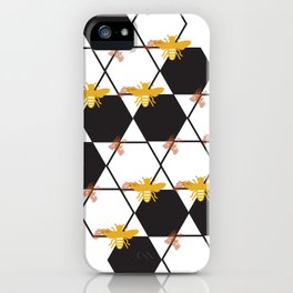 Bees Pattern iPhone Case