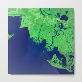 260. Growing Deltas in Atchafalaya Bay Metal Print