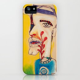 Ronald Harrington / Acrylic and Ink on paper iPhone Case