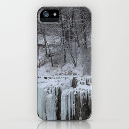 Ice Covered Quarry Wall iPhone Case