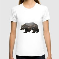 background T-shirts featuring The Kodiak Brown Bear by Davies Babies