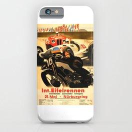 Nurburgring Race, vintage poster iPhone Case