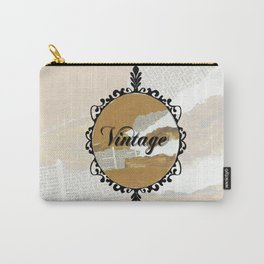 Vintage Collage Frame Carry-All Pouch