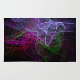 Smooth smoke waves of multiple colors Rug