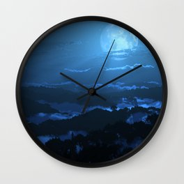 Rolling Ridges (Night) Wall Clock