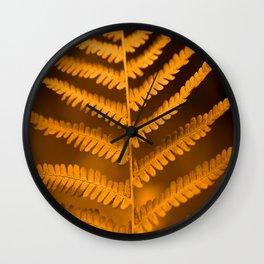 Fern Leaf in Fall Color Autumn Scene #decor #society6 #buyart Wall Clock
