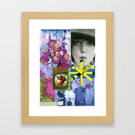 Color Blast Collage Framed Art Print