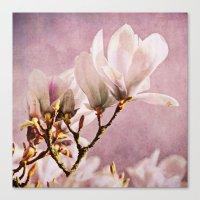 poem Canvas Prints featuring magnolia poem by Iris Lehnhardt
