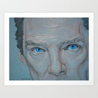 cumberbatch Art Prints featuring Cumberbatch by Artfully Alexa