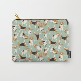 beagle scatter mint Carry-All Pouch