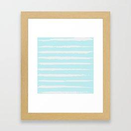 Irregular Hand Painted Stripes Mint Framed Art Print