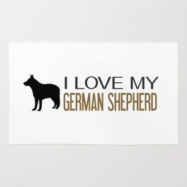 I Love My German Shepherd Rug