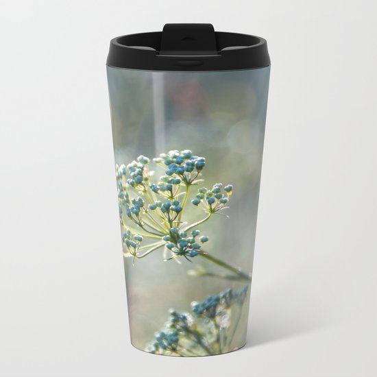 Early morninglight in a meadow Metal Travel Mug
